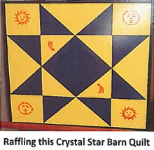 Raffling this Crystal Star Barn Quilt