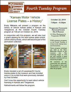 License Plates History flyer